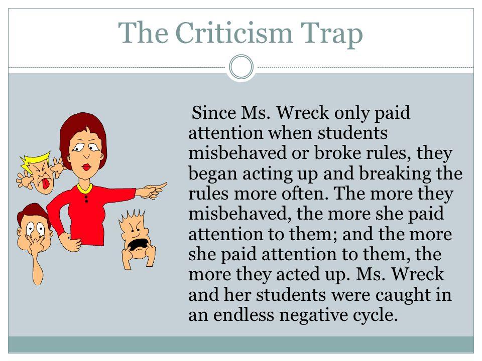 The Criticism Trap
