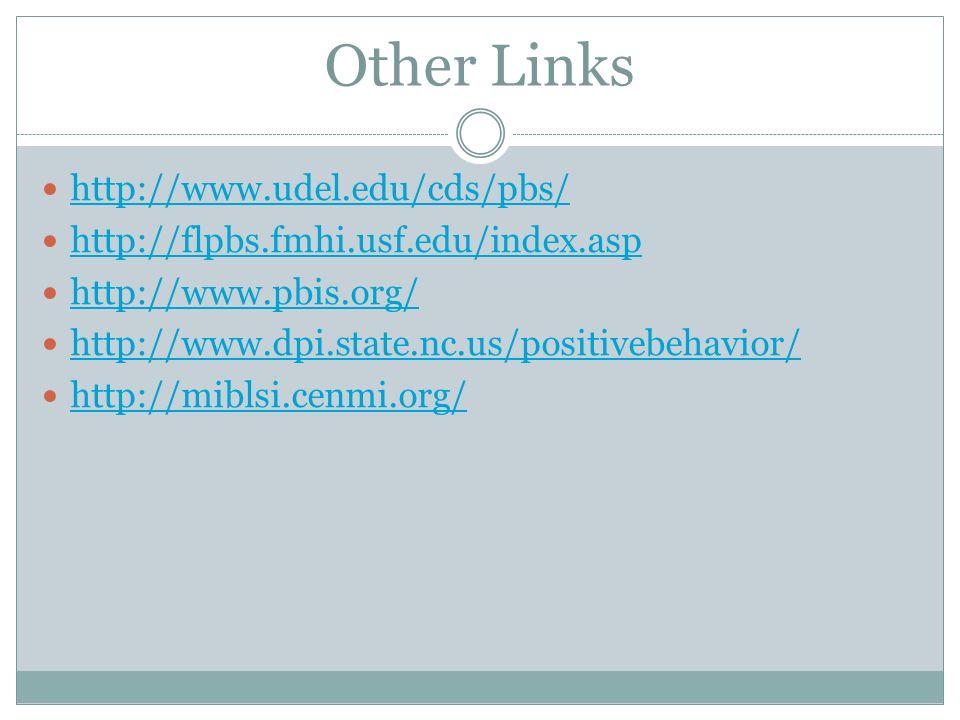 Other Links http://www.udel.edu/cds/pbs/