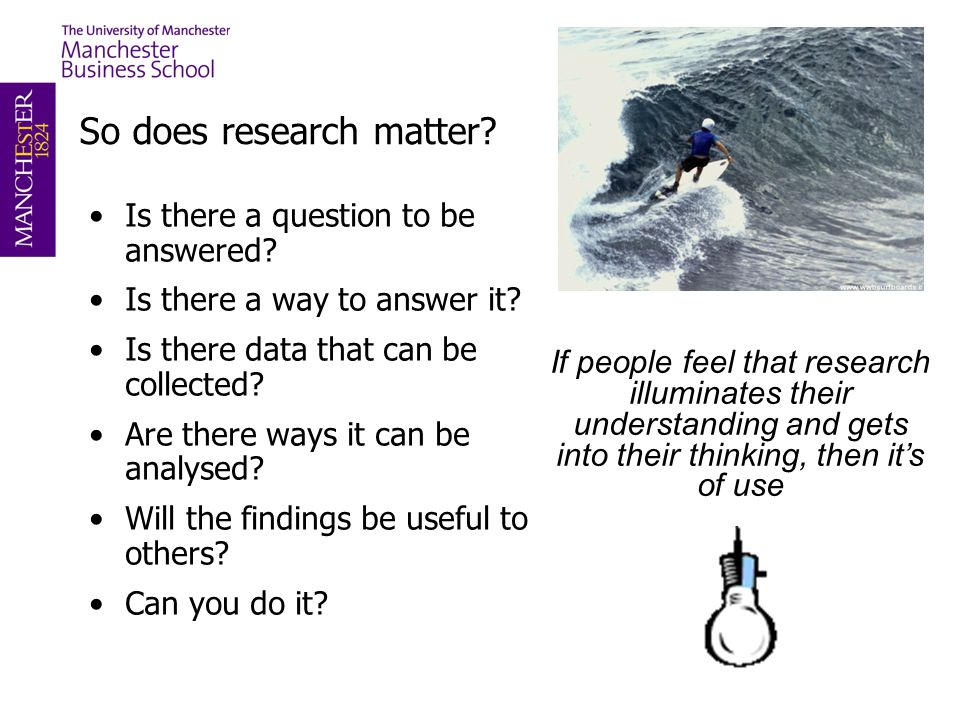 So does research matter