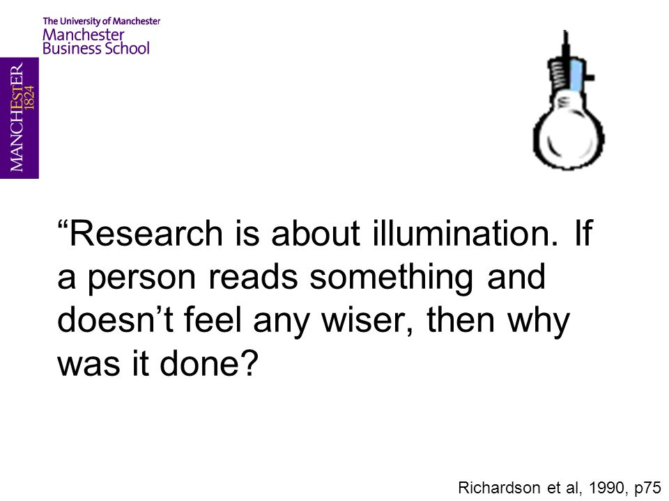 Research is about illumination