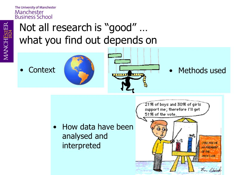 Not all research is good … what you find out depends on
