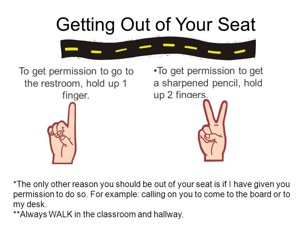Getting Out of Your Seat