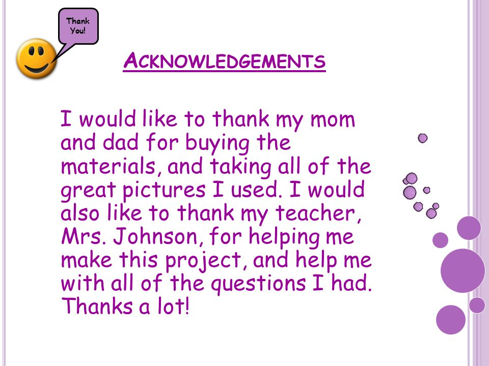 Thank You! Acknowledgements.