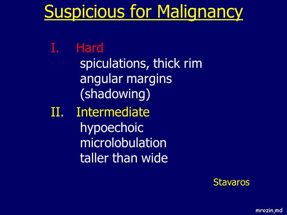 Suspicious for Malignancy