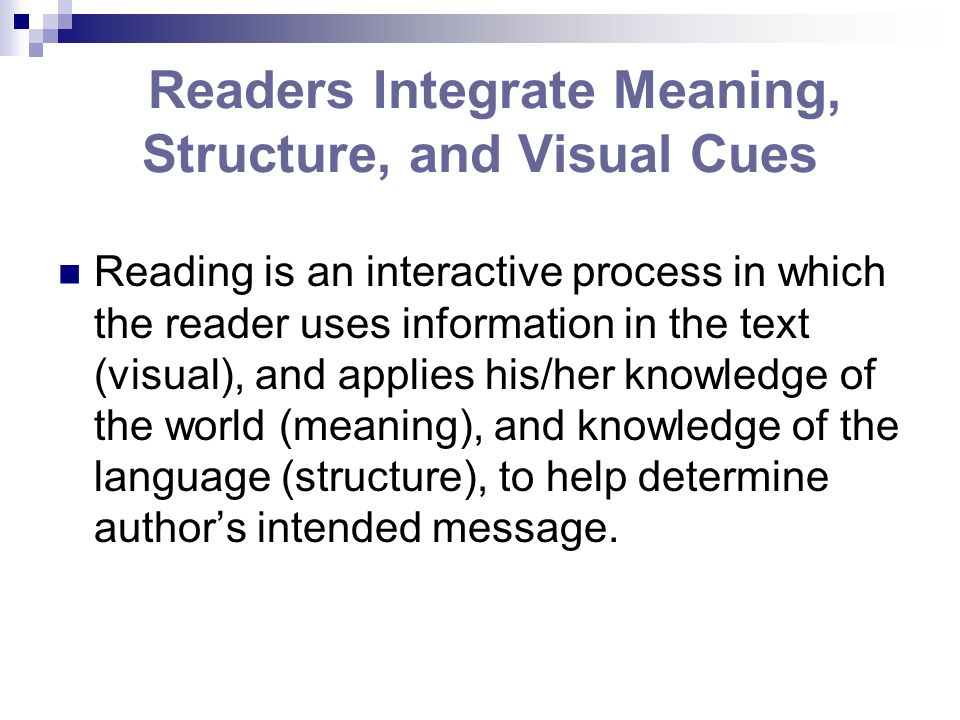 Readers Integrate Meaning, Structure, and Visual Cues