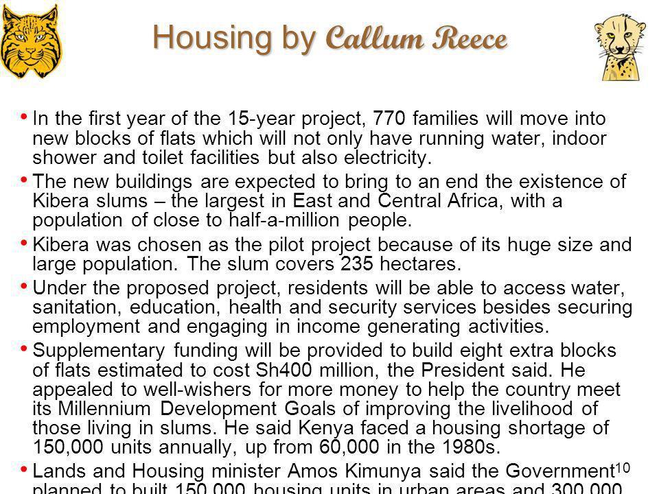 Housing by Callum Reece