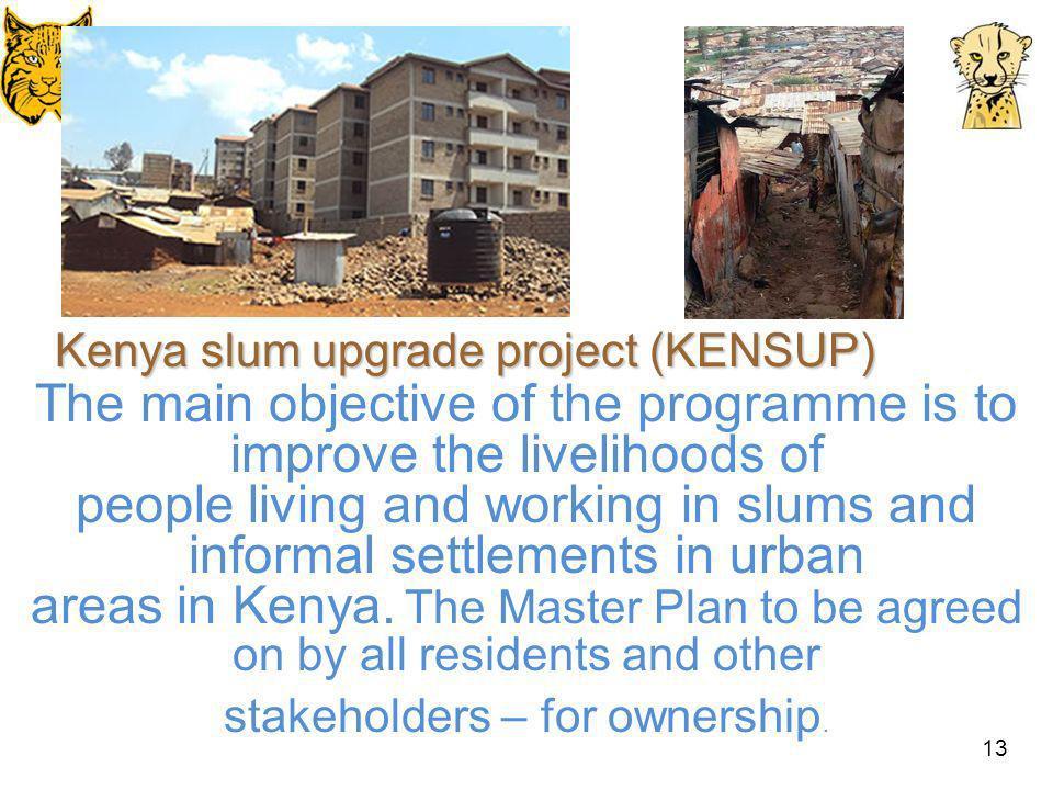Kenya slum upgrade project (KENSUP)