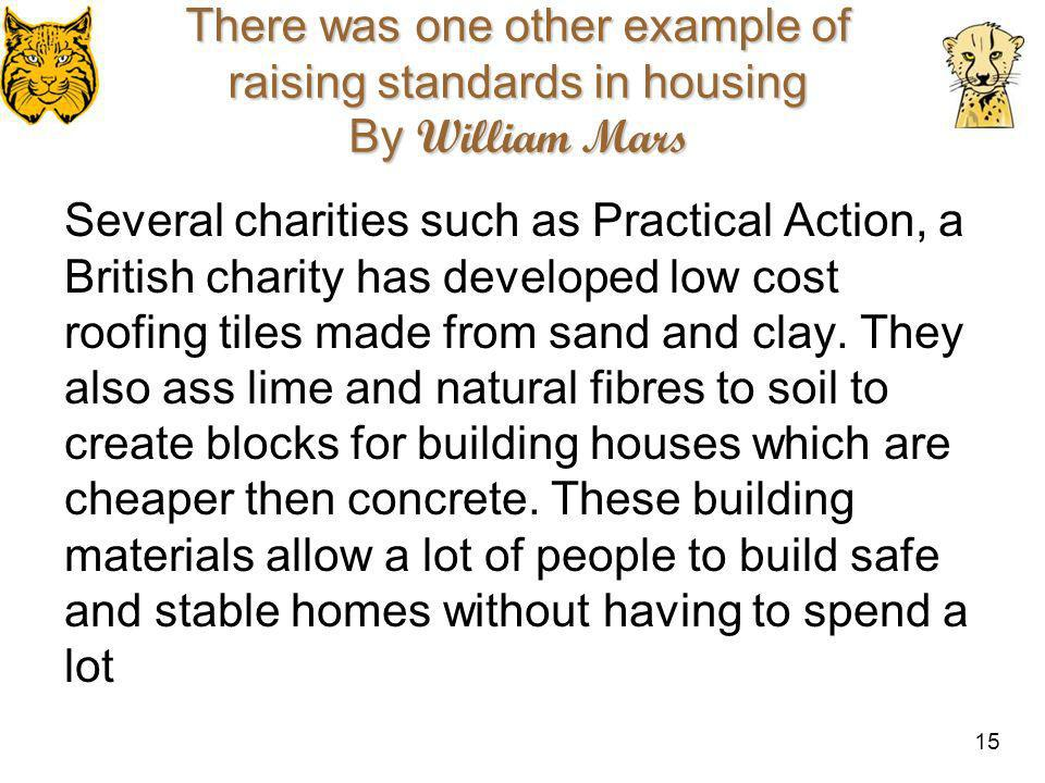 There was one other example of raising standards in housing By William Mars