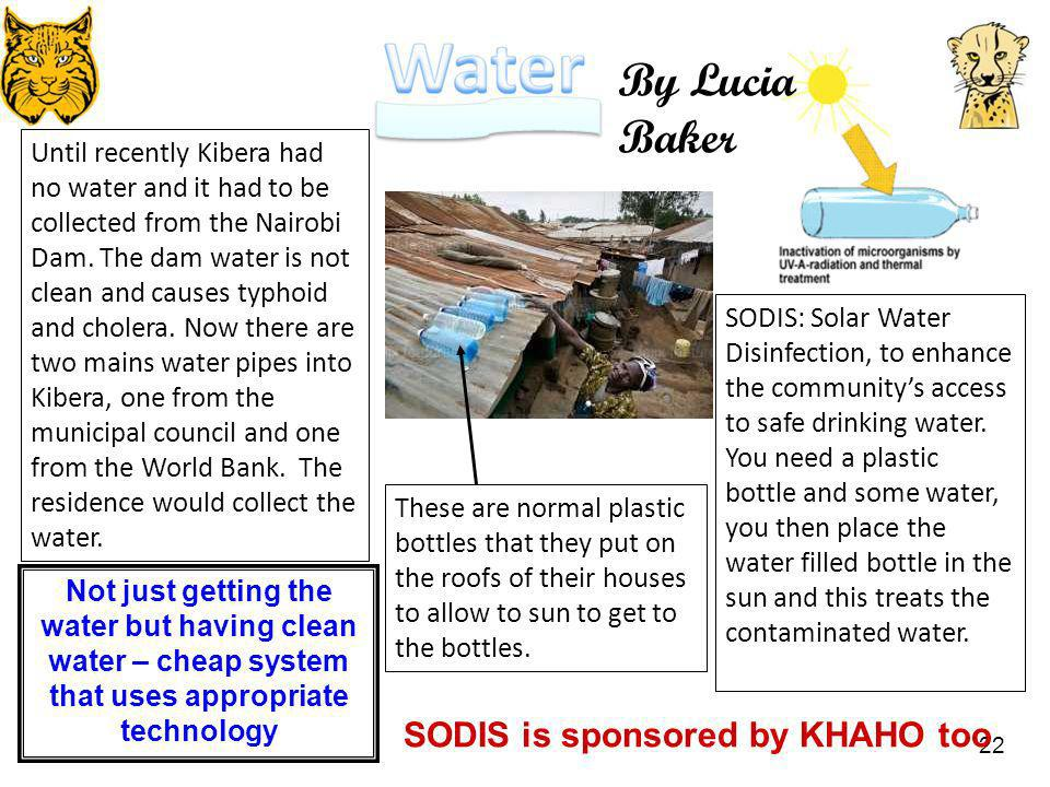 By Lucia Baker SODIS is sponsored by KHAHO too