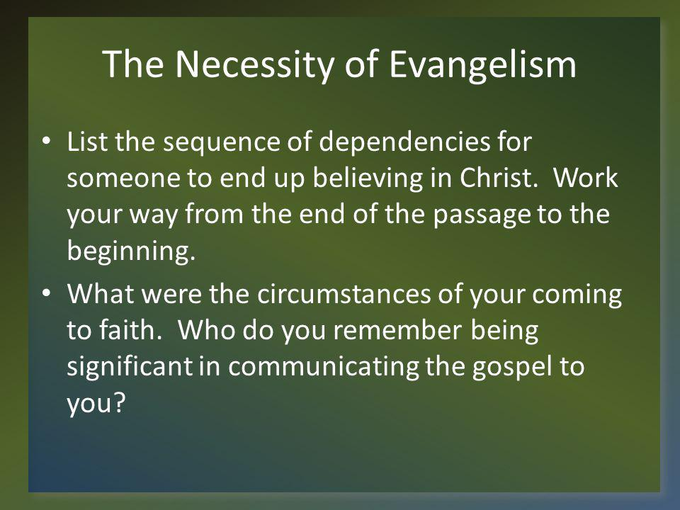The Necessity of Evangelism