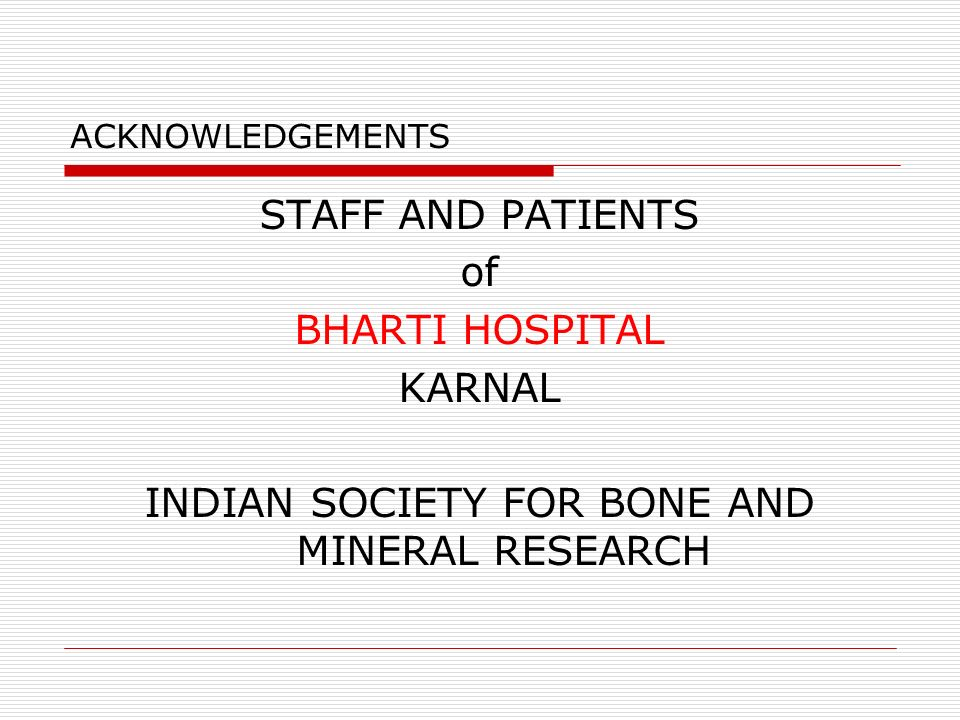INDIAN SOCIETY FOR BONE AND MINERAL RESEARCH