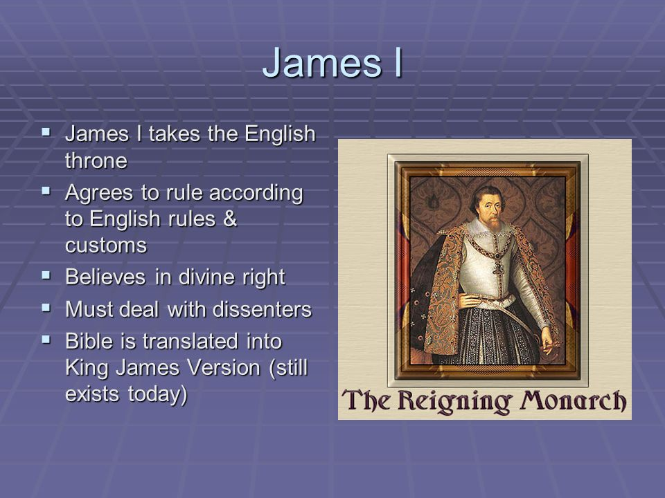 James I James I takes the English throne