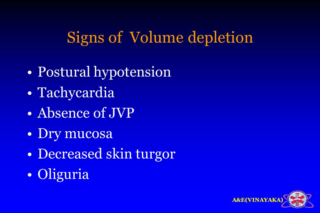 Signs of Volume depletion