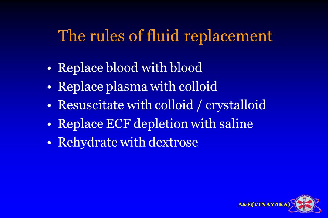 The rules of fluid replacement