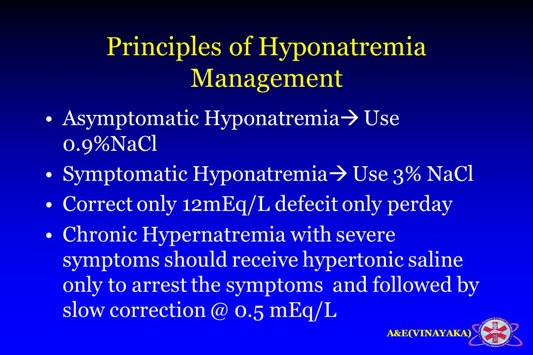 Principles of Hyponatremia Management