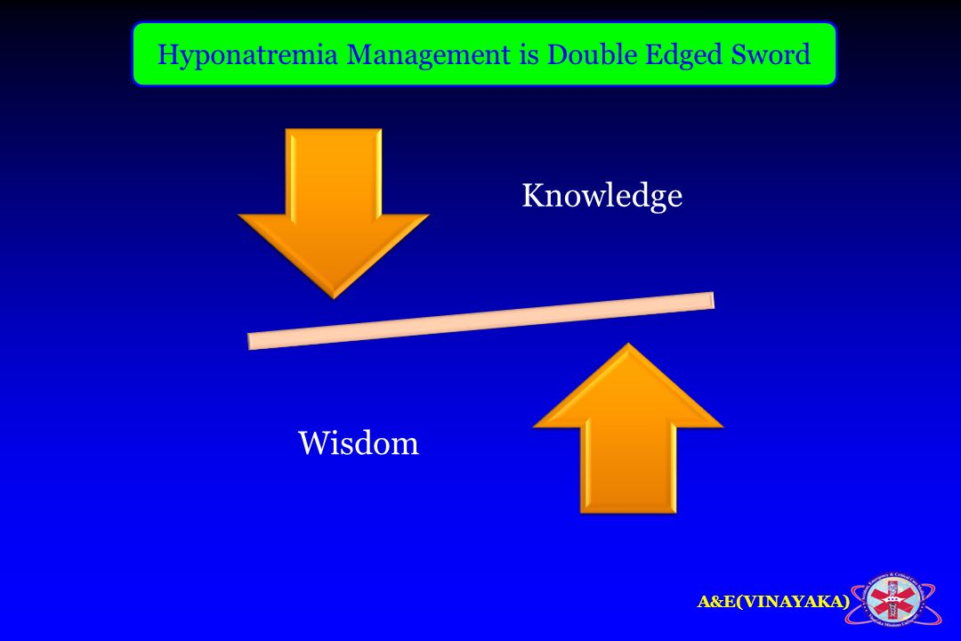 Hyponatremia Management is Double Edged Sword