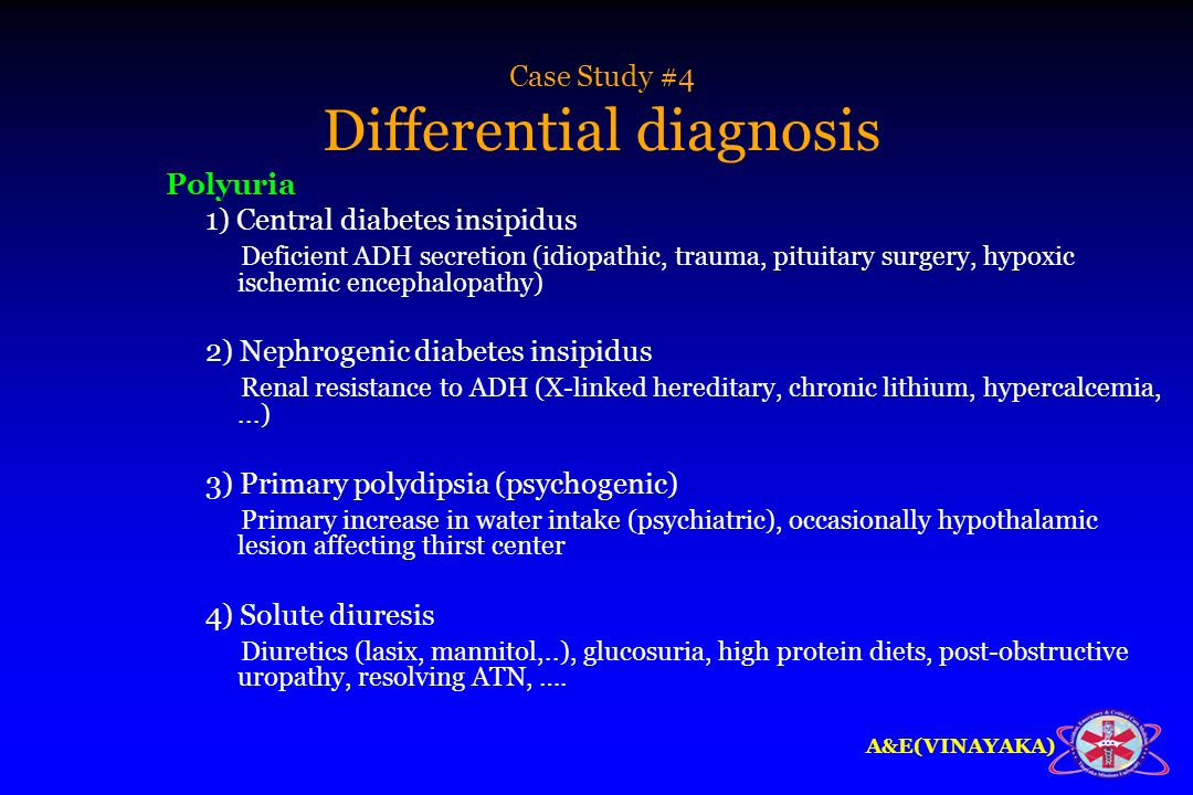 Case Study #4 Differential diagnosis