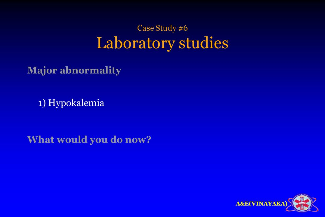 Case Study #6 Laboratory studies