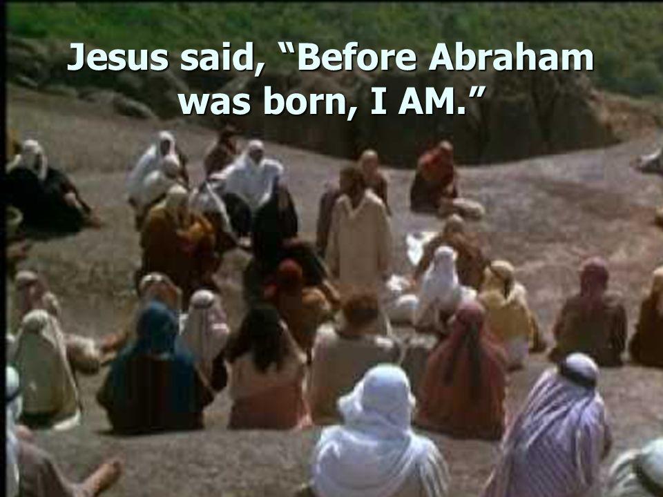 Jesus said, Before Abraham was born, I AM.
