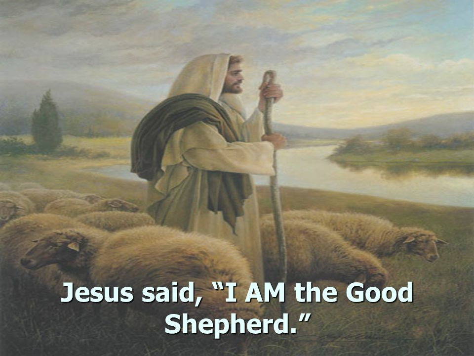 Jesus said, I AM the Good Shepherd.