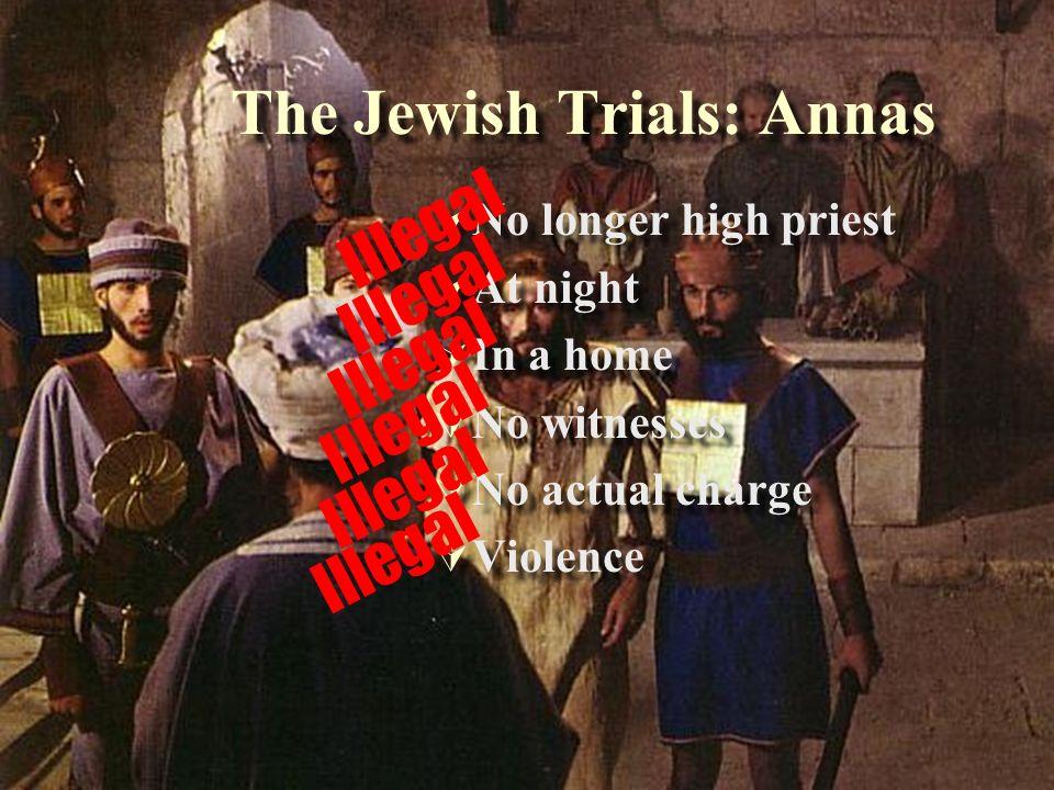 The Jewish Trials: Annas