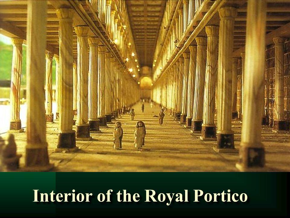 Interior of the Royal Portico