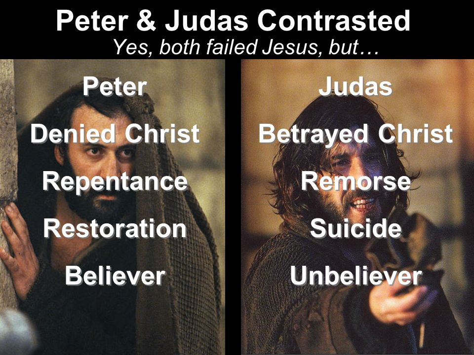 Peter & Judas Contrasted