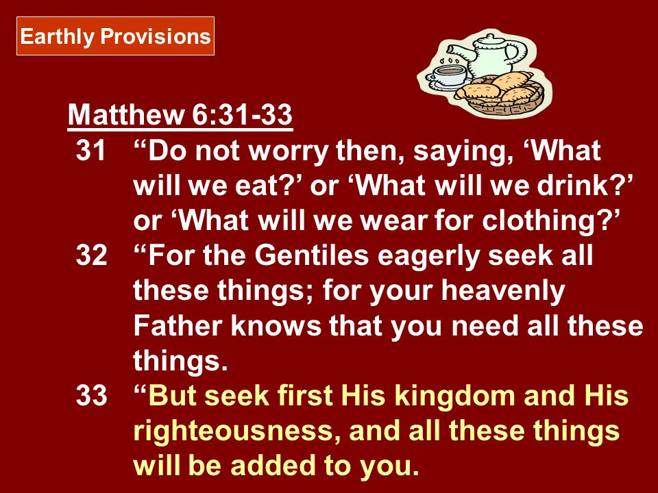Earthly Provisions