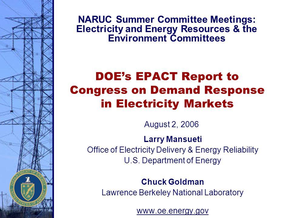 NARUC Summer Committee Meetings: