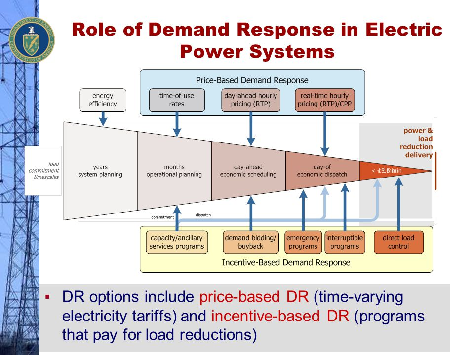 Role of Demand Response in Electric Power Systems