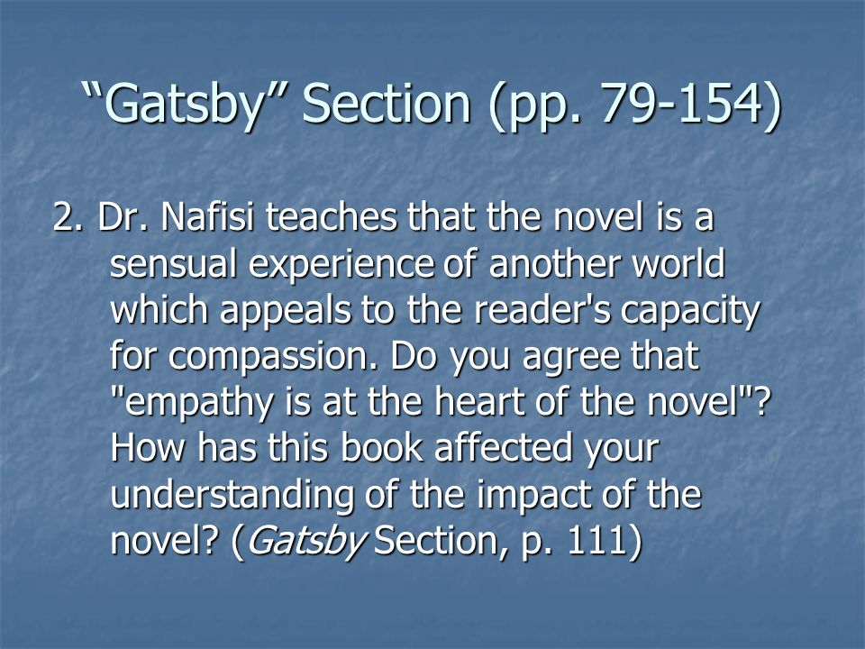 Gatsby Section (pp )