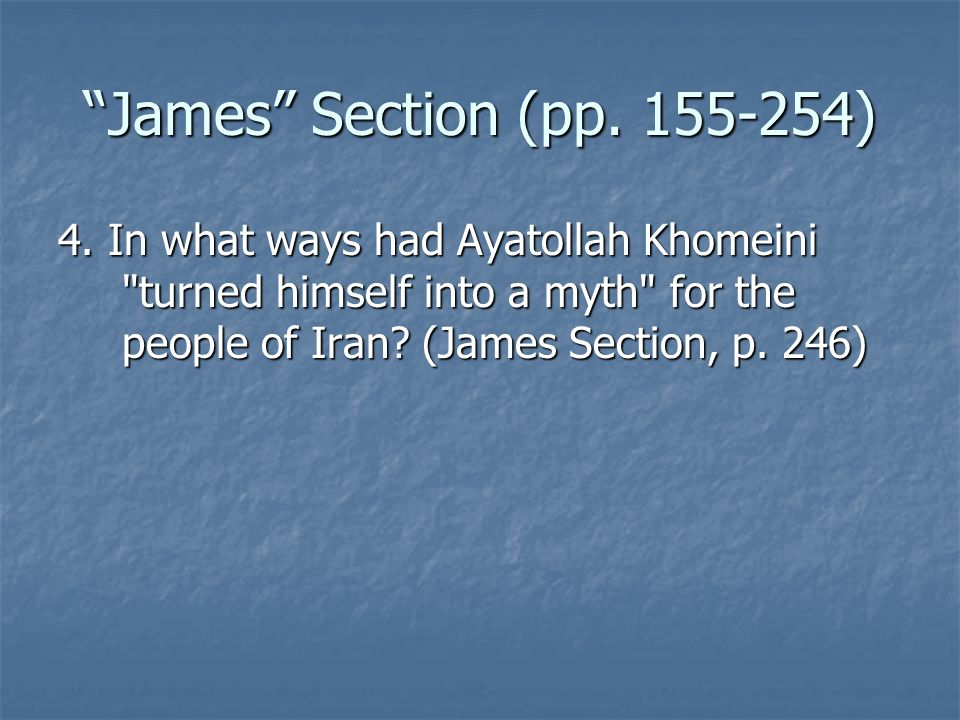 James Section (pp. 155-254) 4.