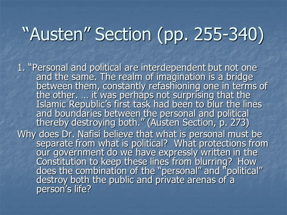 Austen Section (pp )