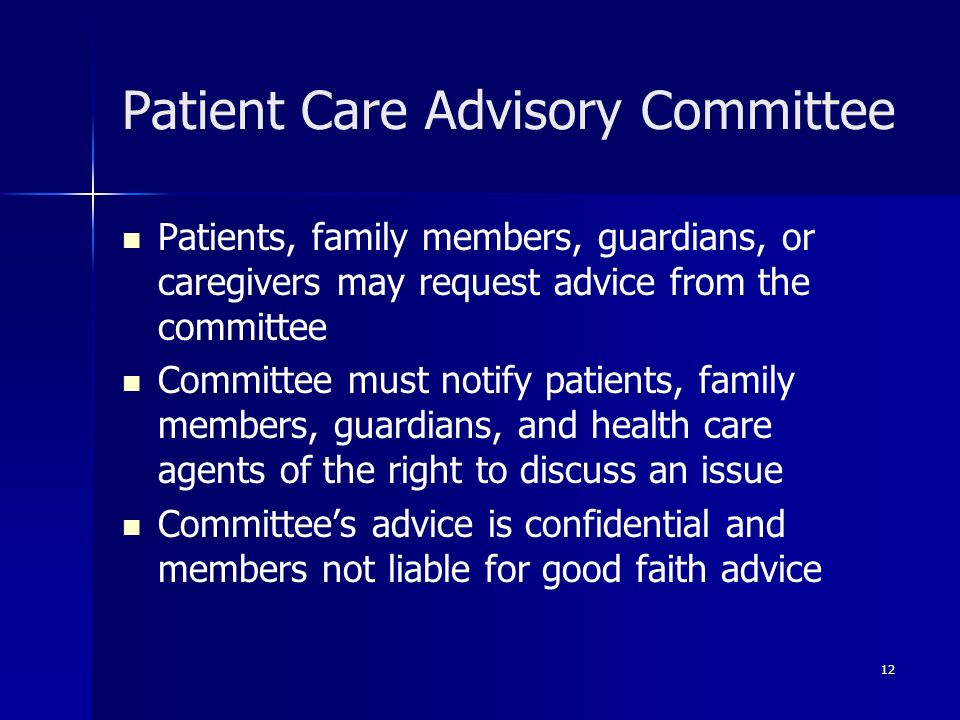 Patient Care Advisory Committee