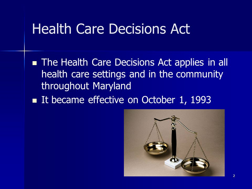 Health Care Decisions Act