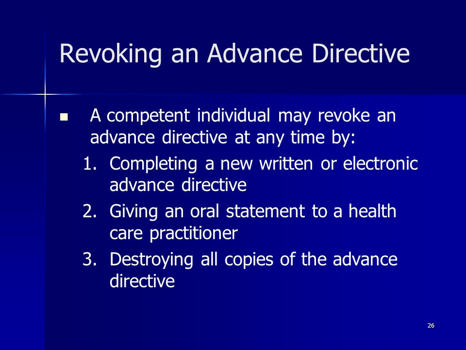 Revoking an Advance Directive