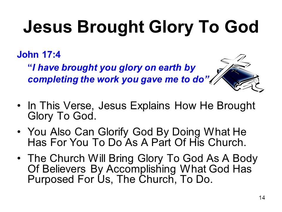 Jesus Brought Glory To God
