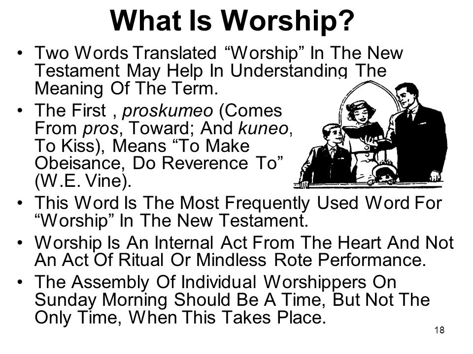 What Is Worship Two Words Translated Worship In The New Testament May Help In Understanding The Meaning Of The Term.
