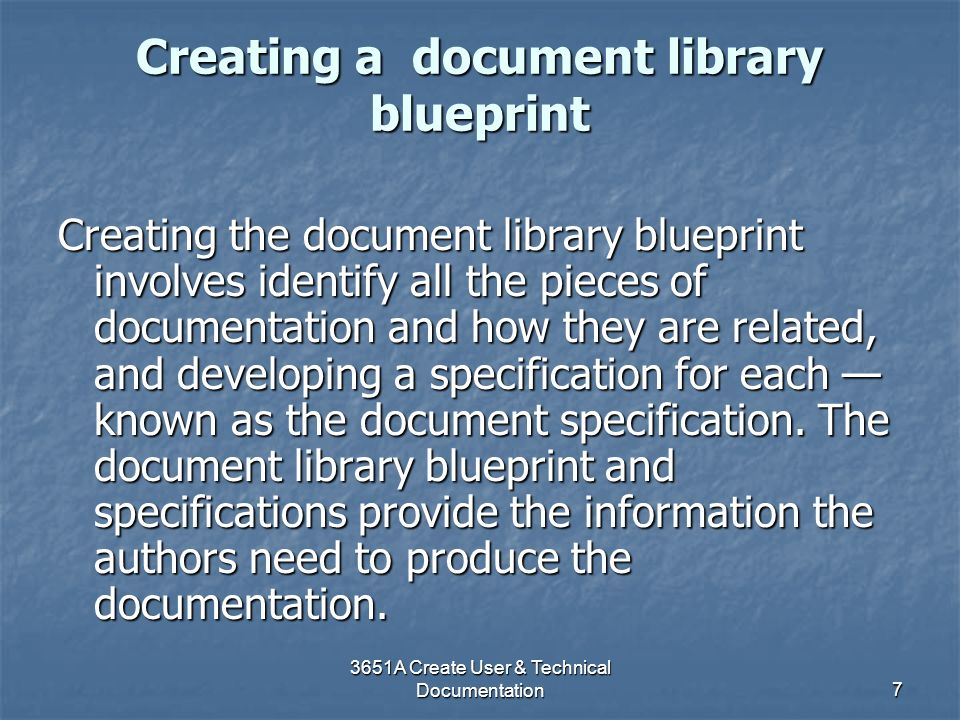 Creating a document library blueprint