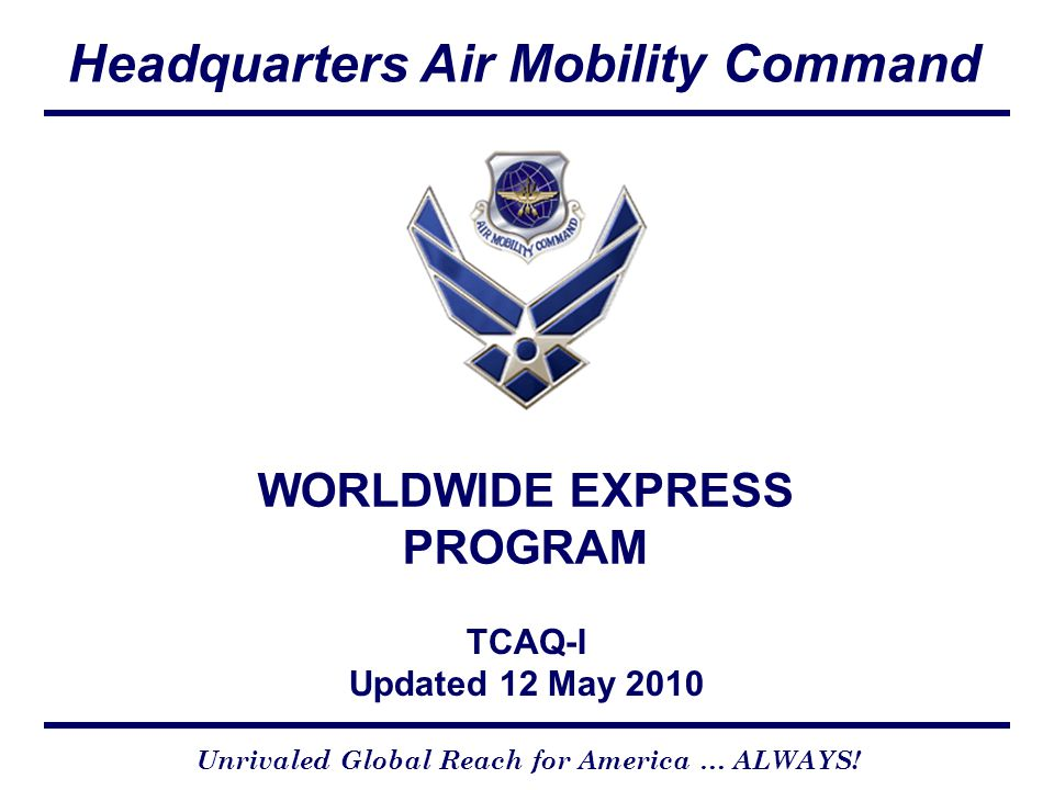 WORLDWIDE EXPRESS PROGRAM