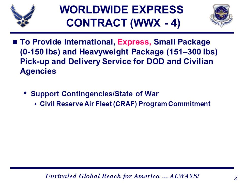 WORLDWIDE EXPRESS CONTRACT (WWX - 4)