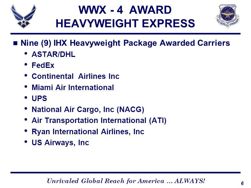 WWX - 4 AWARD HEAVYWEIGHT EXPRESS