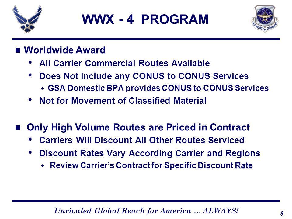 WWX - 4 PROGRAM Worldwide Award