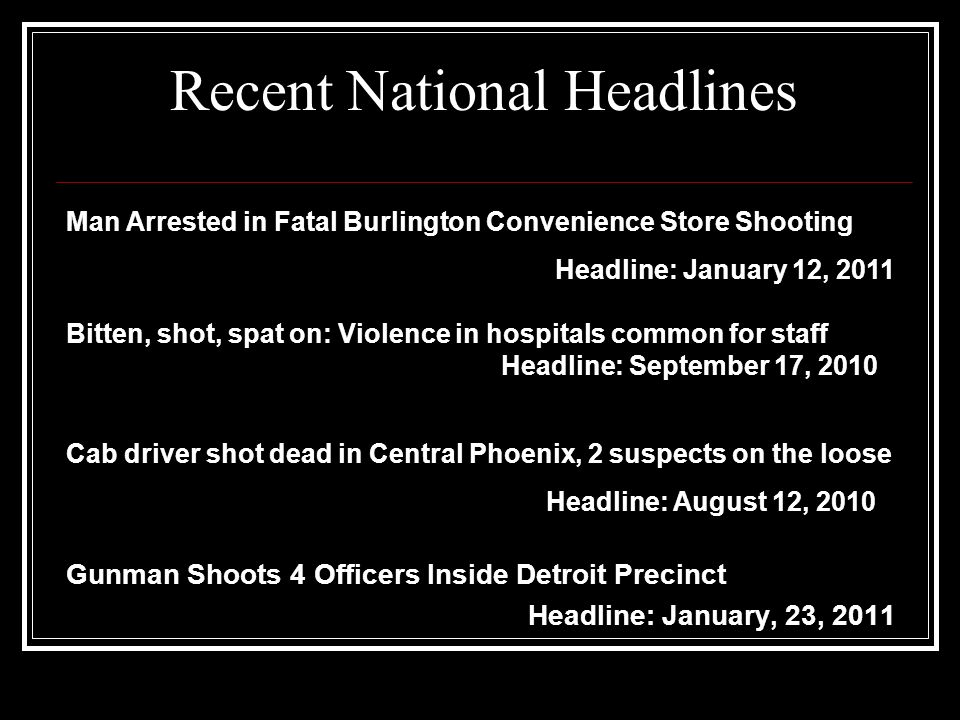Recent National Headlines