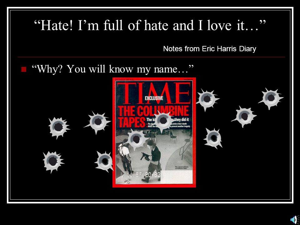 Hate! I'm full of hate and I love it…