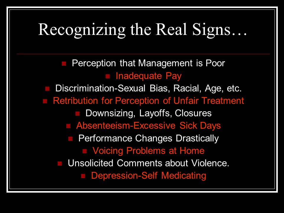 Recognizing the Real Signs…