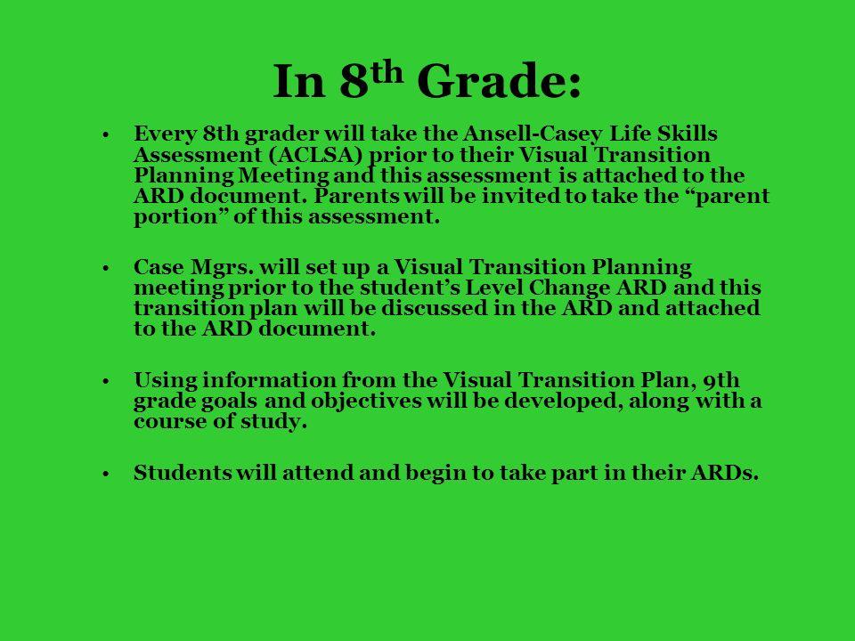 In 8th Grade: