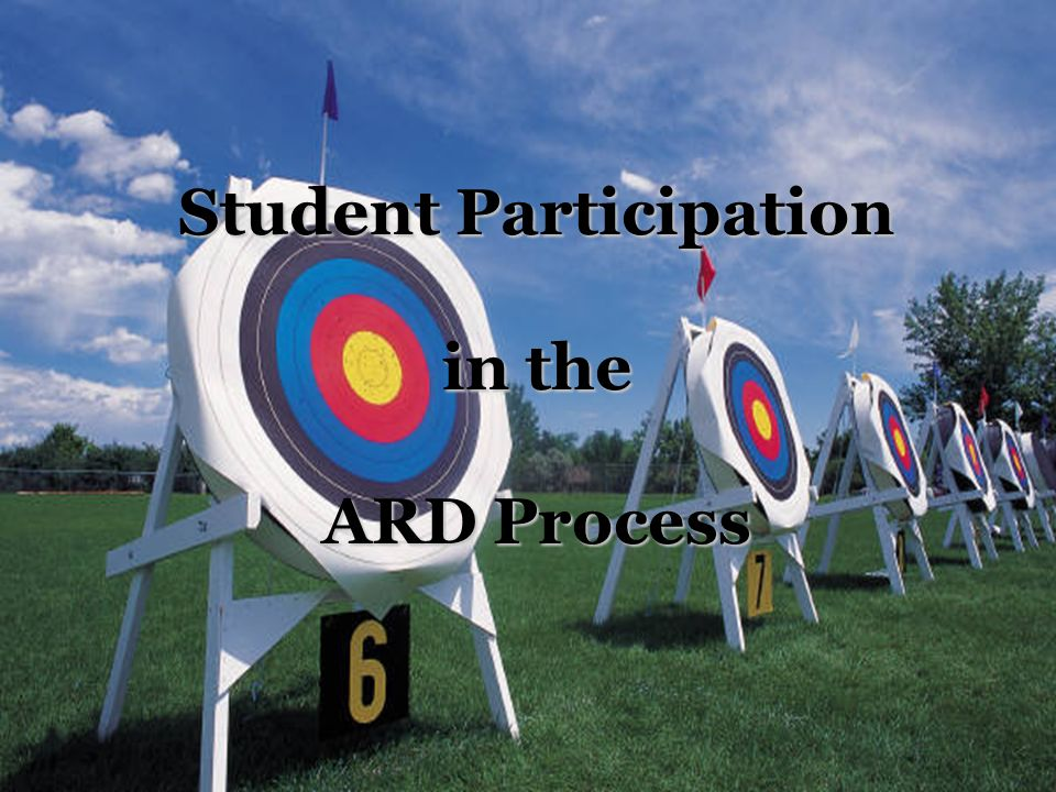 Student Participation in the ARD Process