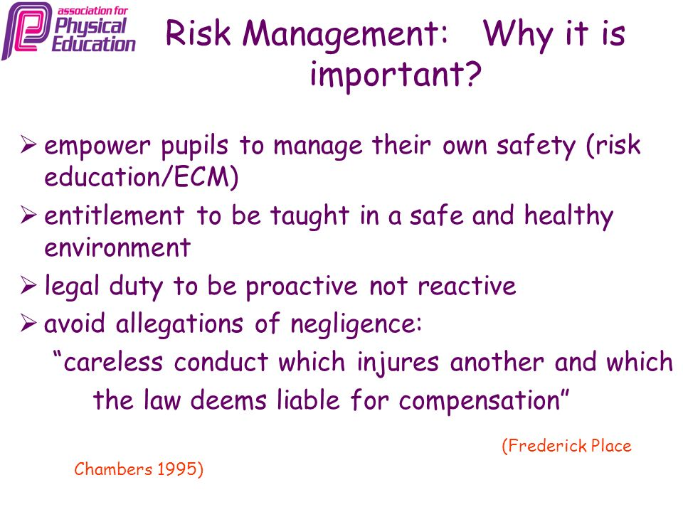 Risk Management: Why it is important