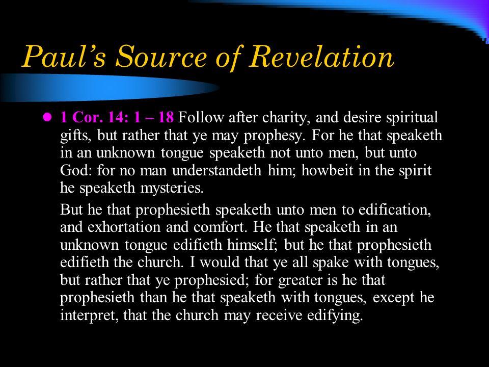 Paul's Source of Revelation